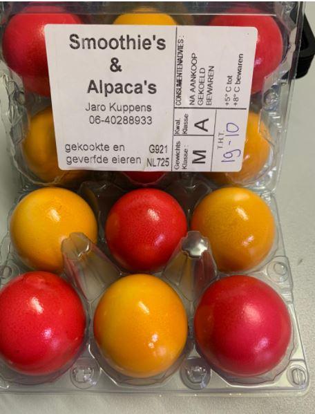 Eieren - gekookt en gekleurd